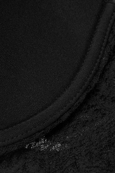 Cosabella - Never Say Never Comfie Lace-trimmed Stretch-jersey T-shirt Bra - Black - 34C