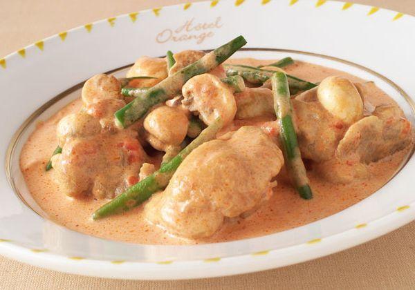 「鶏肉のトマトクリーム煮」の料理レシピ/完成イメージ