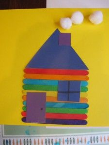 log cabin popsicle craft stick craft
