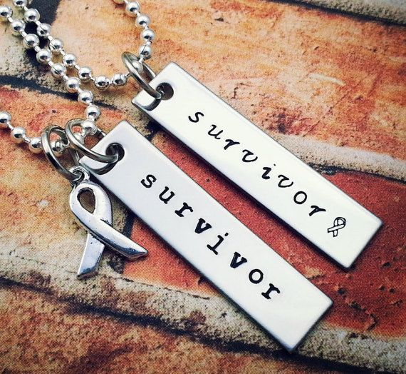 Unisex Necklace for Survivors! Cancer Jewelry, Breast Cancer, Cancer Awareness, Motivational Jewelry, Fearless Jewelry!