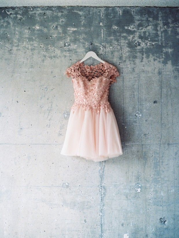 blush tulle + lace dress