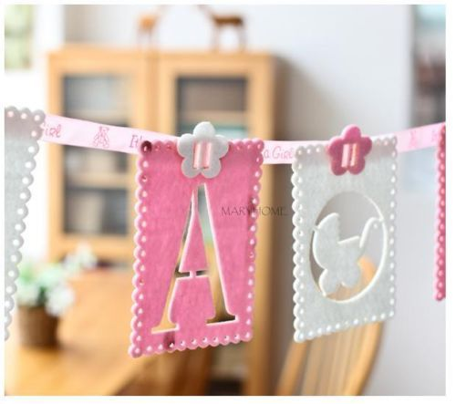 New Baby Shower Garland Favors Decoration It's a girl It's a boy Supplies Banner