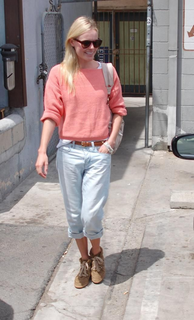 Kate Bosworth in Isabel Marant Bobby Sneakers