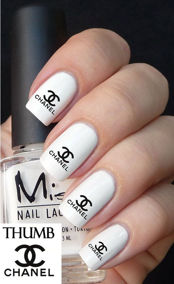 7 best chanel images on pinterest black white chanel nail art chanel nail decals browning by designernails on etsy 395 prinsesfo Images