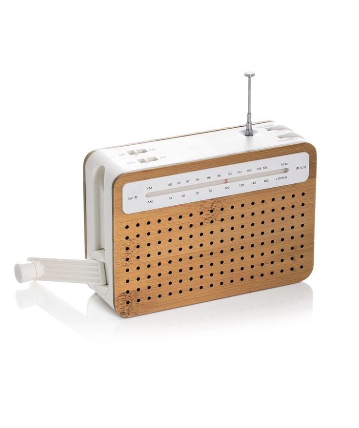 The Safe Radio is an eco-friendly wind up radio powered by turning the crank on the side so no electricity is wasted. | huntingforgeorge.com