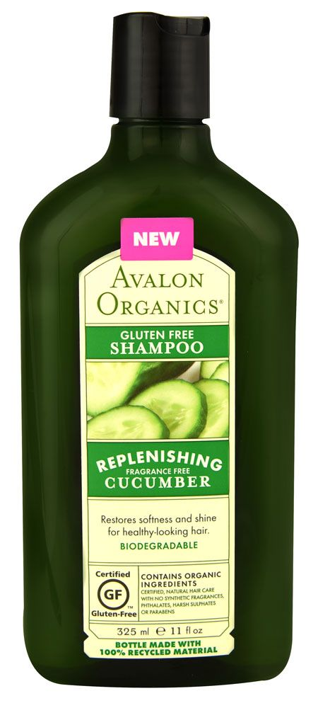 Avalon Organics Gluten Free Shampoo Replenishing Cucumber Fragrance Free