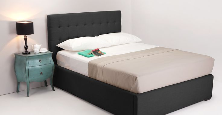 Finlay Black Double Bed with Storage | made.com