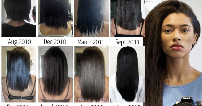 Hair Length This collage shows my hair growth progress from August 2010 to June 2014. I started with very damaged and uneven relaxed ...