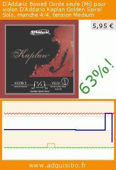 D'Addario Bowed Corde seule (Mi) pour violon D'Addario Kaplan Golden Spiral Solo, manche 4/4, tension Medium (Appareils électroniques). Réduction de 63%! Prix actuel 5,95 €, l'ancien prix était de 16,08 €. https://www.adquisitio.fr/daddario/bowed-corde-seule-mi-4