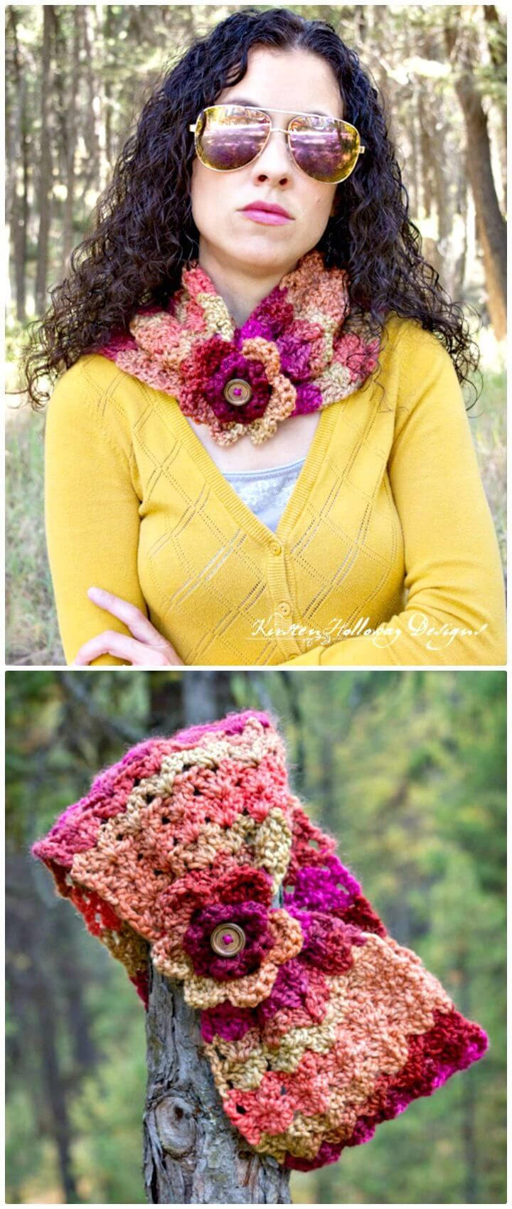 Free Crochet Sweet 'n Sassy 1 Skein Cowl Pattern - 81 Free Crochet Cowl Patterns / Crochet Infinity Scarf - DIY & Crafts