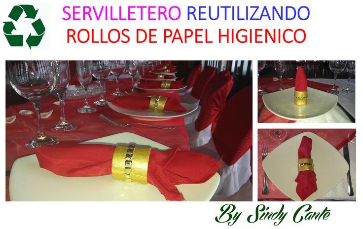 SERVILLETERO RECICLADO CON ROLLOS DE PAPEL HIGIENICO