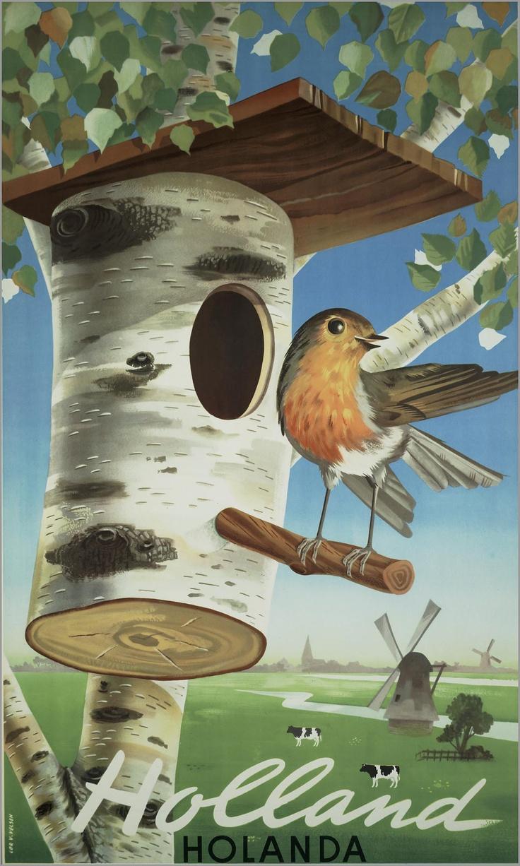 Reisaffiche, NL,1948