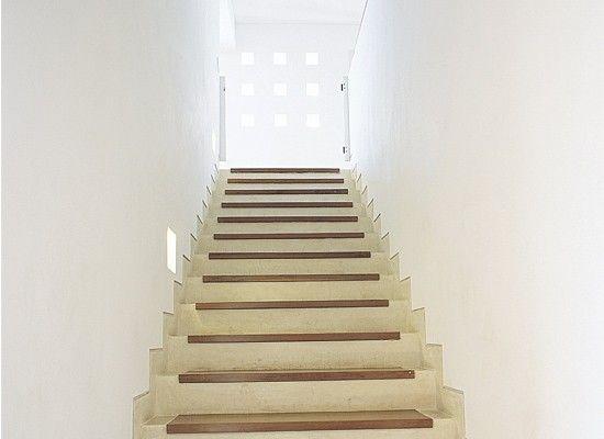 escalera cemento c madera