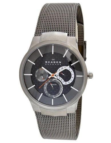 Skagen Men's 809XLTTM Carbon Fiber Dial Titanium Watch - http://www.bestwatchdeals.co/men/wrist-wtches/skagen-mens-809xlttm-carbon-fiber-dial-titanium-watch/ #809XLTTM, #Carbon, #Dial, #Fiber, #Mens, #Skagen, #Titanium, #Watch