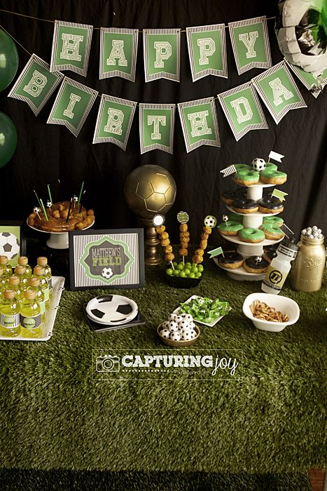 Soccer Sport Birthday Party Theme - plus golden birthday KristenDuke.com
