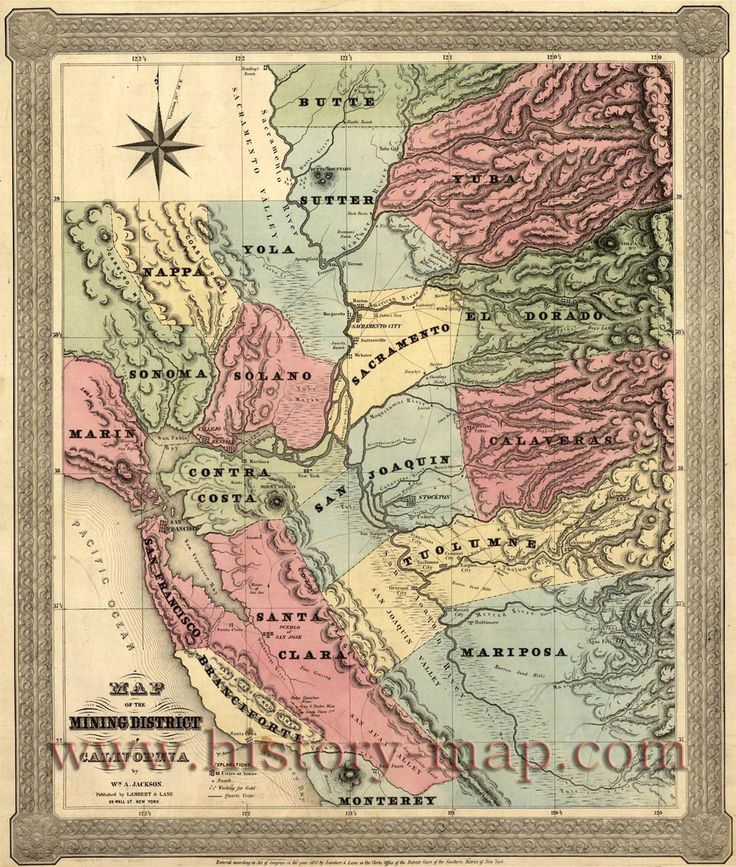 Map of the Mining Districts of California