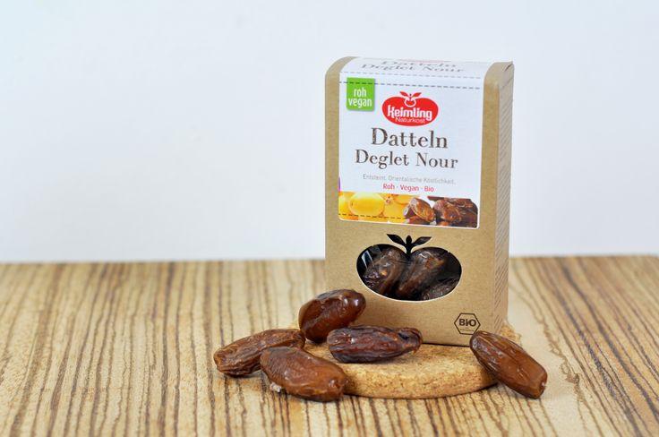 Reines Dattelaroma in bester Qualität: Keimling Naturkost Datteln Deglet Nour werden in Tunesien ökologisch angebaut, entsteint und schonend getrocknet.