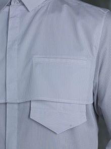 Long Sleeve Half Front Layered Shirt   NOT JUST A LABEL, half pocket detail