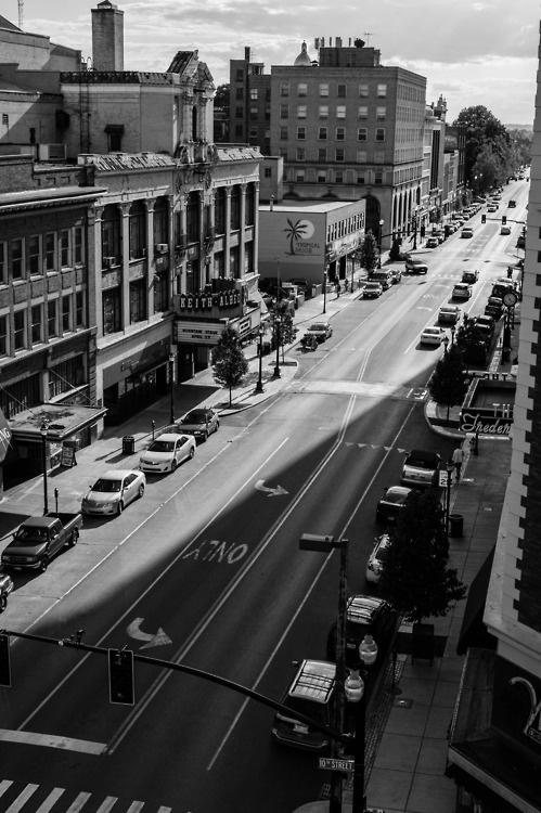 5th Avenue. Huntington, West Virginia. my home town. Loved to walk downtown when I was young..go to the movies or the 5 and dime store