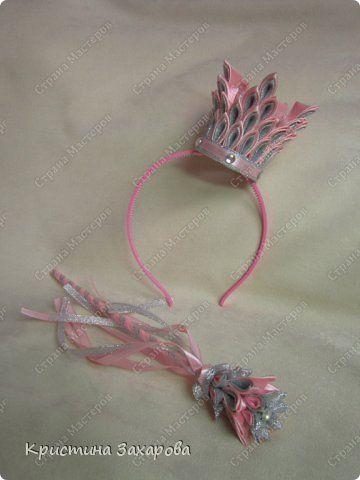 Гардероб Украшение Новый год Цумами Канзаши Ох уж этот Новый год  Короны для принцесс Ленты фото 2