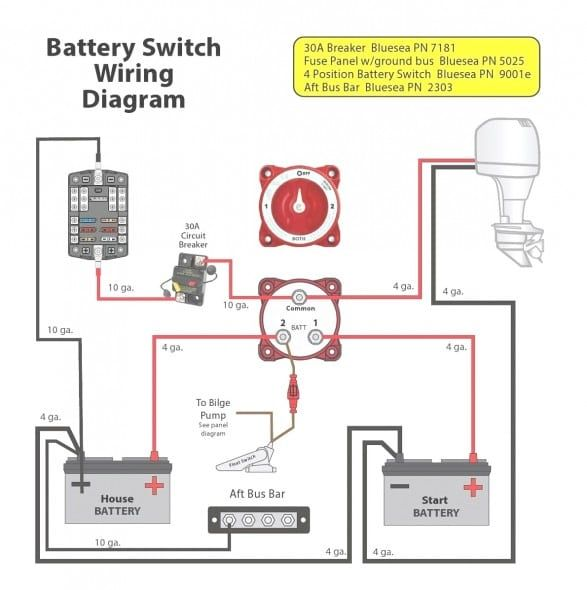 Dual Battery Wiring Diagram For Boat In 2020 Boat Wiring Boat Battery Diagram