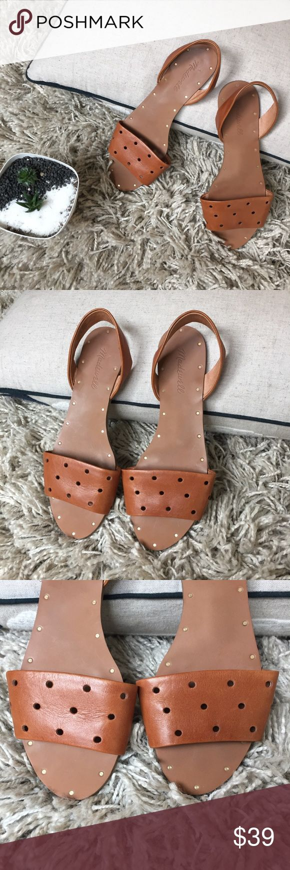 EUC Madewell Sandals + Upper leather and rubber bottom  + Slingback hole punch style !! 💋💋💋 + Don't forget to bundle 🛍