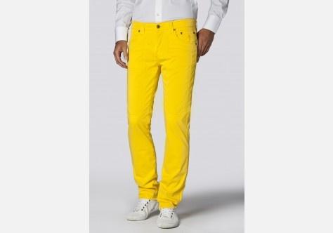 Pantalone cinque tasche in gabardina.