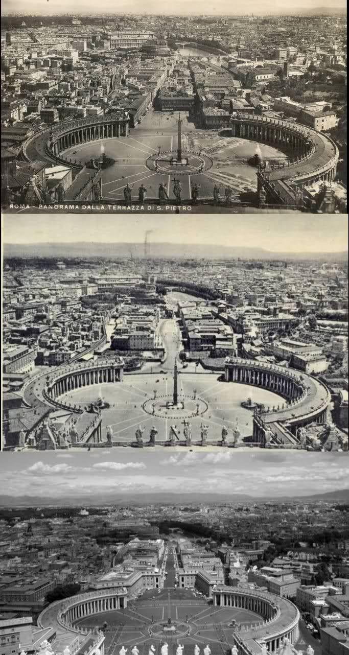 ROMA Sparita - via della conciliazione...prima e dopo