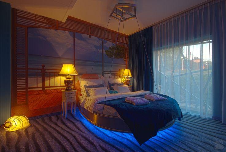 Wnętrza Hotelowe - Apartament niebieski - Sypialnia - Hotel Lenart