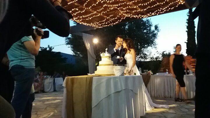 κόψιμο τούρτας γάμου