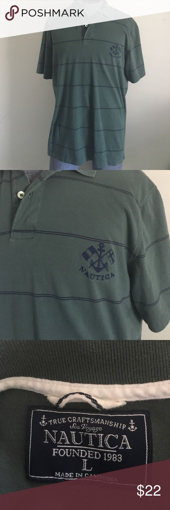 NAUTICA Men's Pima Cotton Polo Shirt Size L NAUTICA men's Pima Cotton Polo Shirt , Size L , 100% Pima cotton, good condition Nautica Shirts Polos