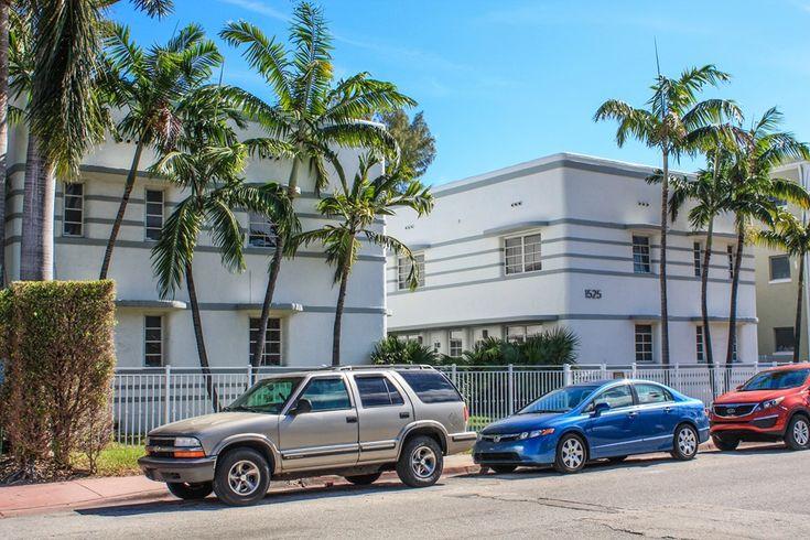 So baut man im Art Deco Viertel von Miami  - Gut für heiße Tage. #artdeco #miami #miamibeach #miamiandbeaches