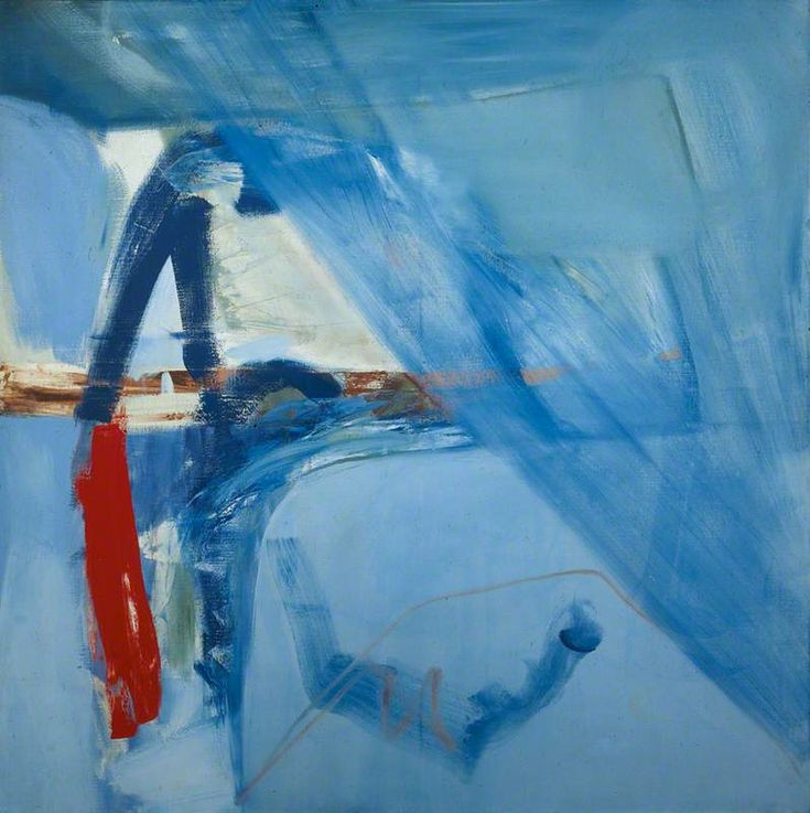 Peter Lanyon - Soaring Flight (1960) Oil on canvas, 152.4 x 152.4 cm. Peter Lanyon's abstract responses to the Cornish landscape are influenced by the aerial views he experienced as a keen glider pilot. His expressive and dynamic compositions evoke the exhilaration of flying through the air, the power of the sea below and the geology of the land.