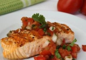 Grilled fish with Fresh Salsa Topping can be used with all phases of the Ideal Protein Weight Loss Program.