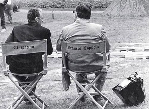 pickledelephant:           Al Pacino and Francis Ford Coppola while making The Godfather: Part III (1990)