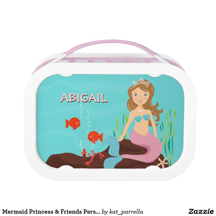 Mermaid Princess & Friends Personalized Lunch Box