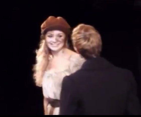 Carrie Hope Fletcher as Éponine Thénardier in the 2013-14 West End cast of Les Misérables. Rob Houchen as Marius Pontmercy.