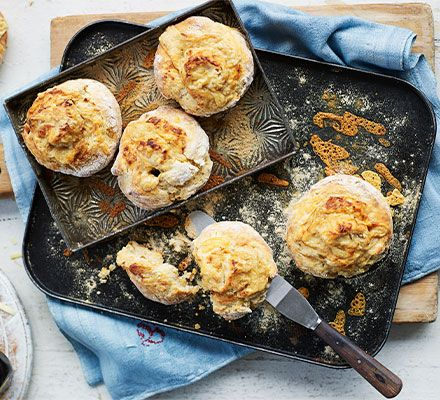 Cheese and marmite scones