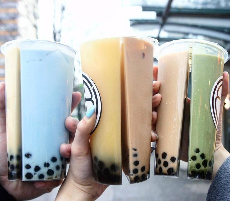 #Repost @grubzon Bubble Tea in dual split containers  Scroll down for flavor names.  Tag your  friends .  Picture by @BitesOfVncvr Location  @thebbtshop  Vancouver Canada.  In the Picture.  Jasmine milk tea & Blueberry bubble milk Yogurt fruit tea & Honey milk tea and Roasted milk tea & Matcha bubble milk.  #GRUBZONE