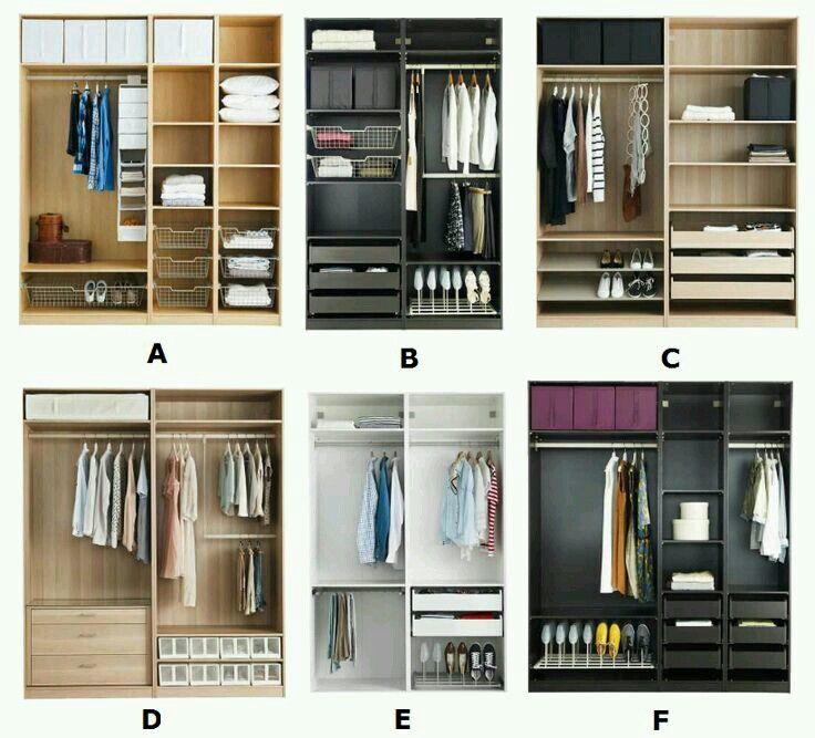 Las 25 mejores ideas sobre peque os armarios roperos en - Organizacion de armarios ...