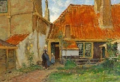 Achter het huis, Domburg, Paul François Hermanus