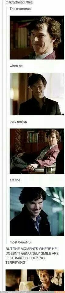 High functioning sociopath, with your number. :D<<<< his smile sometimes resembles the grinch