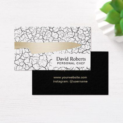 Personal Chef Catering Modern Gold Knife Business Card   Stylish Gifts  Unique Cool Diy Customize