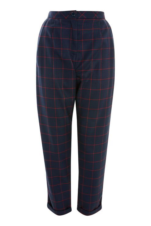 Window Check Tapered Trousers