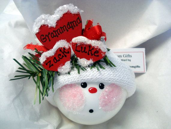 Grandmother Christmas Ornament Snowball by TownsendCustomGifts, $16.95