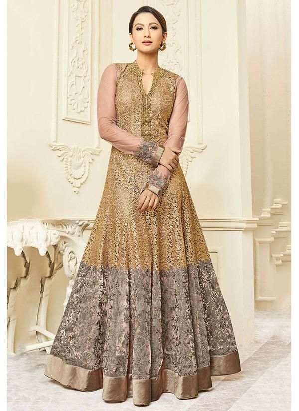 23116e929c1 Full Sleeve Chinese Collared Anarkali Suit. Full Sleeve Chinese Collared Anarkali  Suit Anarkali Dress With Price