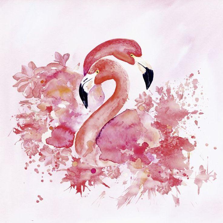 постеры розовые фламинго сколько нас