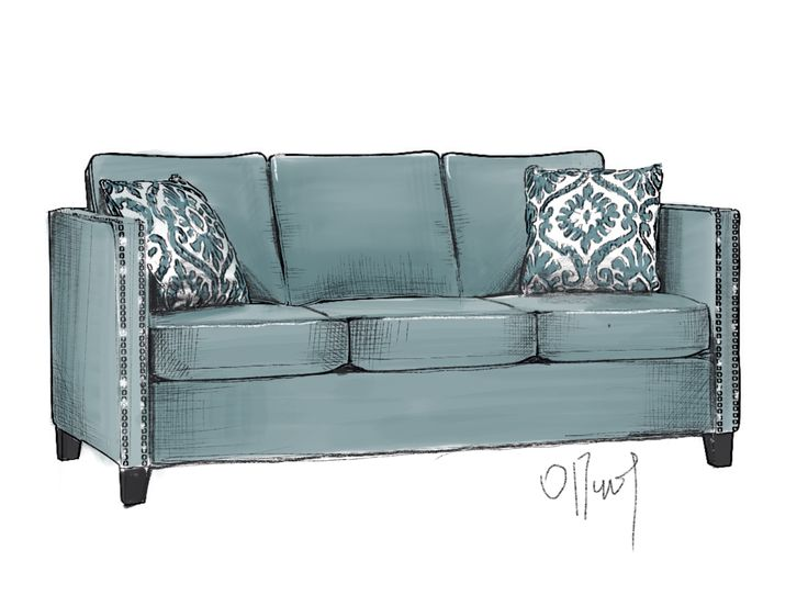 drawing sofa by ipad