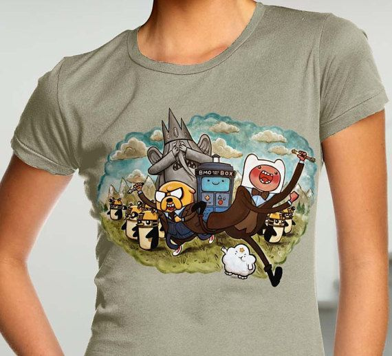 Adventure time shirt  time lord doctor who funny shirt  by DrozdTM