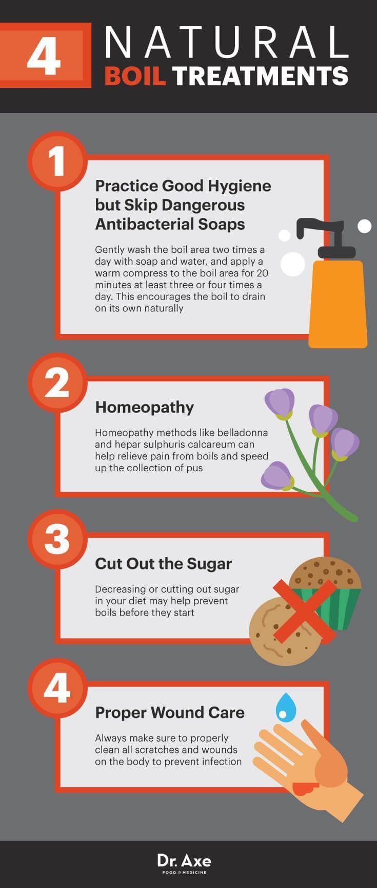 Four natural boil treatments - Dr. Axe  http://www.draxe.com #health #holistic #natural